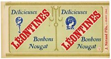 French Candy Label LEONTINES (CAN1112), ***AN ORIGINAL 1920's TIN CAN LABEL***