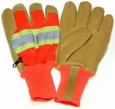 Reflective Leather Gloves 100 Gram 3M Thinsulate Lining, Safety Cuff