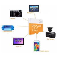 32GB 64GB 128GB MicroSD C10 TF Flash Memory Card w/ SD Adapter For Phone Camera