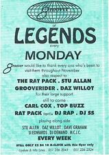 GROOVER Rave Flyer Flyers year unknown A5 Legends London