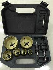 NEW**10PC BI Metal Hole Saw Holesaw Kit 22mm to 73 mm Tool Set W/Case 10piece