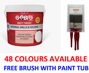 Matt Emulsion Internal Wall & Ceiling Paint SILK Emulsion Paint 48 Colour 4 Ltr