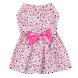 Pet Dress Puppy Skirt Clothes Autumn Spring Birthday Party Fancy Dress