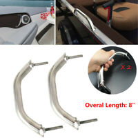 2 PCS 316 Stainless Steel 8'' Polished For Boat Marine Grab Handle Handrail Nice