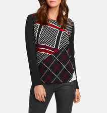 GERRY WEBER Long Sleeve Top Panelled Check Pattern, UK 16 - BNWT