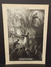 Harper's Weekly 1 Pg Virgin Mary's Letter-Box - Romish Superstitions 1873 B14#88