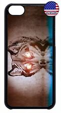 New Slim Back Hard Case Cover For Apple iPod 4 5 6  Wolf Moon Dog Design