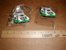 2 John Force New drag racing keychain Keyring 1997 Ford Castrol Funny Car lot