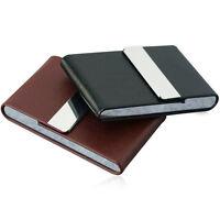 Zigarettenetui Leder Box für 8er Zigarettenpackung Metall RahmenZigarettenbox`