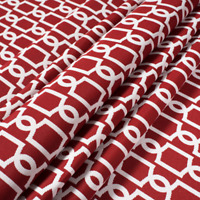 P Kaufmann Oceangate Red Snapper Outdoor Drapery Upholstery Fabric by the yard