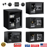 Hidden Wall Home Security Safe Cabinet Cash Box Digital Keypad Lock Code & Key