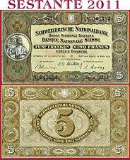 (com) SWITZERLAND - 5 FRANKEN 28.3. 1952 Sign Müller, Rossy, Blumer - P 11p - VF
