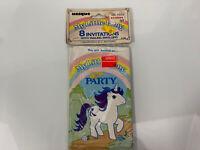 Vtg 1984 MLP My Little Pony GLORY PARTY INVITATIONS W/ Envelopes Nos