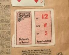 Harvard Yale Dartmouth 1906 Tickets Plimpton Field Foot Ball Scrapbook Program