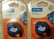 2 GENUINE Dymo Letratag Plastic Labels