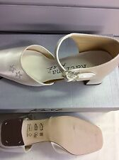 Ladies bridal shoes ivory bridesmaid brides 2inch heel  uk 4 satin adults new