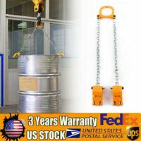 LBS Chain Drum Lifter Yellow 1 Ton Lift Barrel Lifter Vertical Hoist Alloy Steel