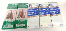 Christmas Tree Tinsel 5 Boxes Vtg Red Silver Icicles 4 New 1 Open Xmas Decor