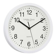 london clock co 24182 Sweeping Simple White Wall Clock 26cm