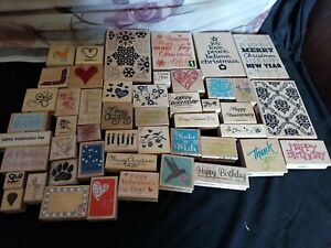 Lot Of 48 Rubber Stamps