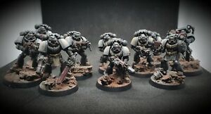 Black Templars Space Marine 10 Tactical Squad Well Painted Warhammer 40k