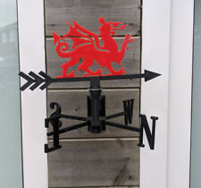 More details for welsh dragon - y ddraig goch acrylic garden weather vane wall, pole, post mount