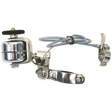 Radlaufglocke Stahl silber Sturmklingel mit Bowdenzug Glocke Klingel