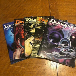 Dungeon Magazine Lot Issue 36,37,38,39 & 40 TSR - 5 issues
