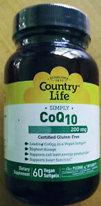 Country Life Simply CoQ10 60 Softgels 200 mg