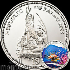 2009 Palau $1 RED LIONFISH Marine Life Protection Silver Plated Copper Coin