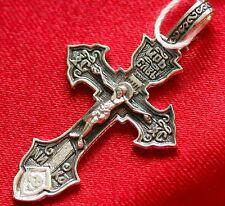 Sergius Of Radonezh Crusifix Russian Orthodox Silver 925 Prayer Icon New Blessed