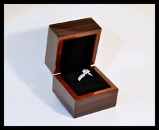 Fine Hight Quality Wooden Ring Jewellery Display Gift Box, Wedding, Engagement