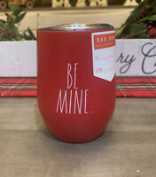 Rae Dunn - BE MINE - Red Insulated Stainless Steel Wine Glass w/ Lid 12oz