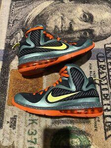 Nike Lebron IX 9 Cannon Volt Slate Grey Cannon 469764-004 Size 8.5