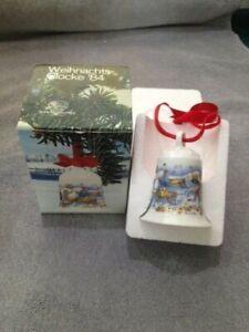 Hutschenreuther Weihnachtsglocke 1984 mit  Originalverpackung , weitere ab 1978
