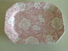 Burleigh Staffordshire Made In England Victorian Chintz Pale Pink Serving Plate