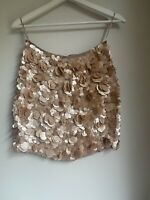 DUSTY PINK SEQUIN SKIRT SPARKLY 8 ASOS GLAM CELEB PRETTY SUMMER CUTE FIT PARTY
