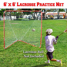 New 6' X 6' Portable Lacrosse Practice Net Set Quick Set Up Sport Lacrosse Goal