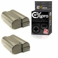 Ex-Pro EN-EL15 2200mAh Battery x2 for Nikon 1 V1 D500 D600 D800 D7000 7100 D7200