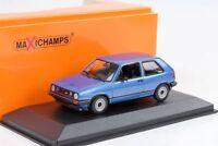 1985 VW Golf II 2 GTI blau metallic 1:43 Maxichamps / Minichamps