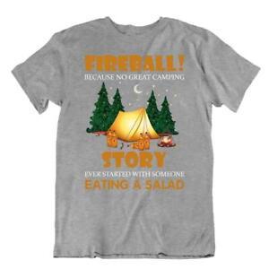 Camping Outside Trip T-Shirt Tee Cute Gift Cool Funny Outdoors Fresh Fireball