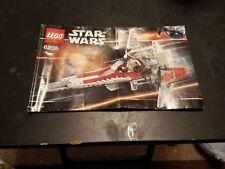 Lego Star Wars Episode III V-Wing Fighter 6205 instruction booklet only.