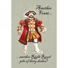 "Henry VIII ""Another Feast"" novelty tea towel by HOLY MACKEREL Made in THE UK"
