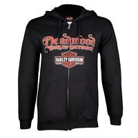 Deadwood Harley-Davidson® Men's Skull Rider Zip-Up Hoodie Sweatshirt