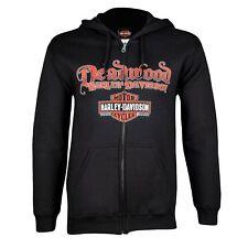 Deadwood Harley-Davidson® Men's Skull Rider Zip-Up Hoodie Sweatshirt