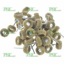 "100PC 1"" (25mm) 80Grit Abrasive Wheel Buffing Polishing Wheel For Rotary Tool"