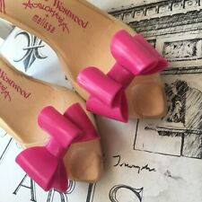 Vivienne Westwood Anglomania/Melissa Lady Dragon Pink Bow Jelly Pump Heels US 6