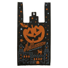 20pcs Halloween Pumpkin Tote Plastic Bag Party Favor Trick Treat Gift Wrapping
