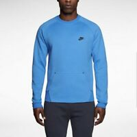 Nike Tech Fleece Plain Crew Sweater Blau New 545163 463  M