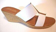 Brand New Italian Shoemakers Size 12M White Mule Wedge Heel Sandal Shoes